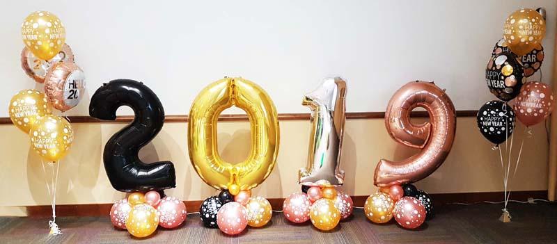 Globos fiesta año nuevo