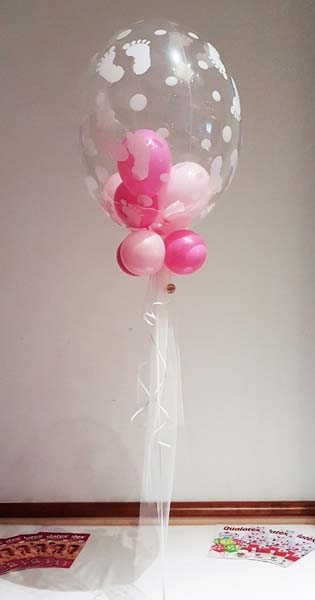 Globos de helio naciemiento niña
