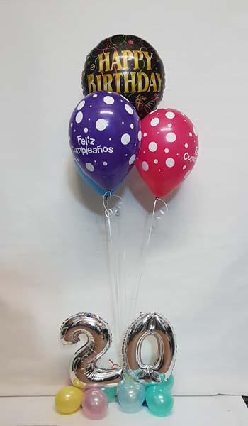 Decoración con globos fiesta de cumpleaños