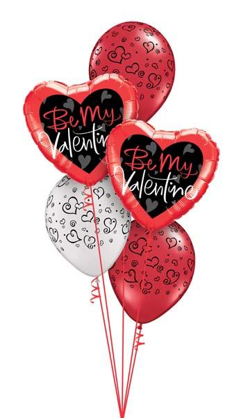Corazones de helio para San Valentín