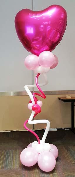 Decoración San Valentín con globos de helio