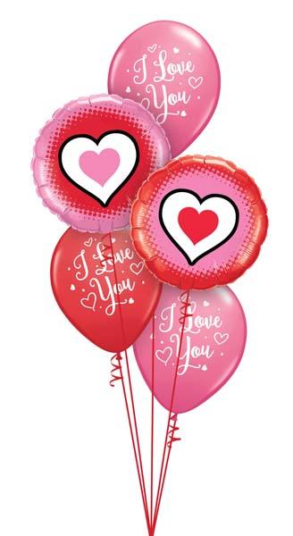 Globos de helio para día de los enamorados