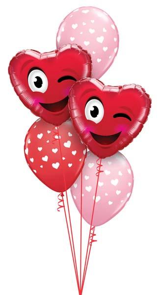 Globos de helio para San Valentín